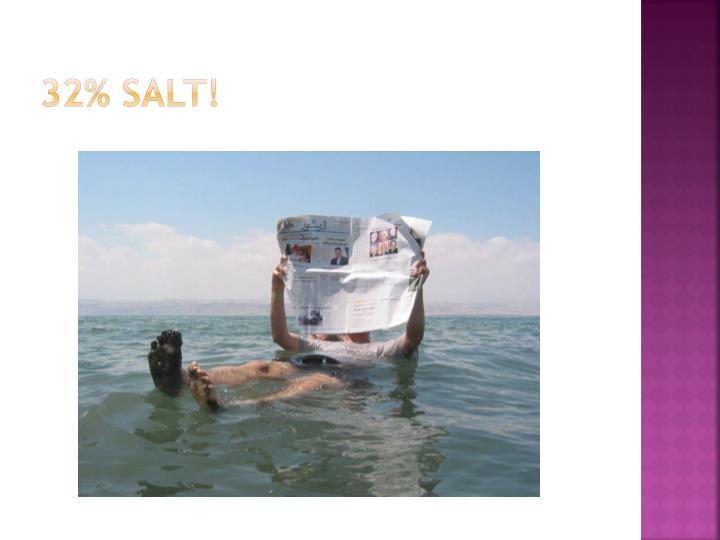 32% SALT!