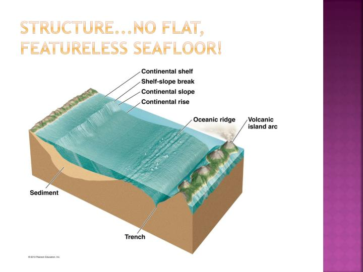 structure...no flat, featureless seafloor!