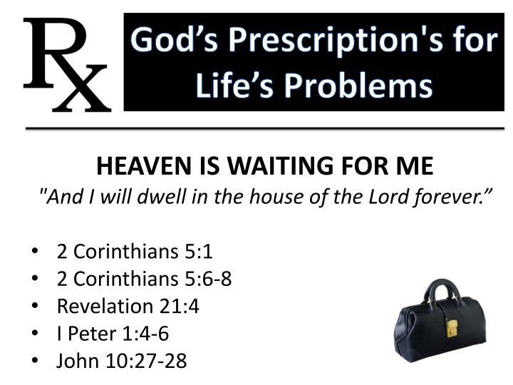 God's Prescription's for