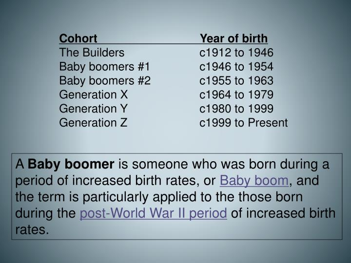 PPT - BABY BOOMERS PowerPoint Presentation - ID:2797384