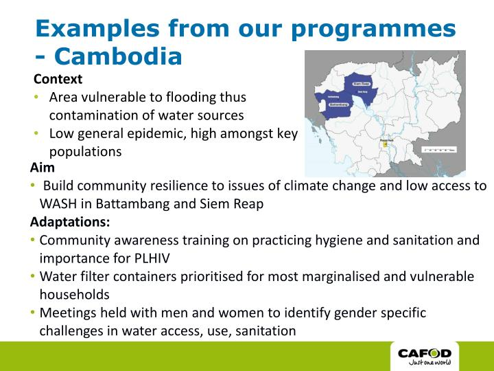 Examples from our programmes - Cambodia