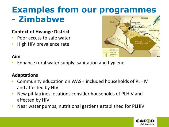 Examples from our programmes - Zimbabwe