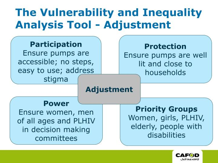 The Vulnerability and Inequality Analysis Tool - Adjustment