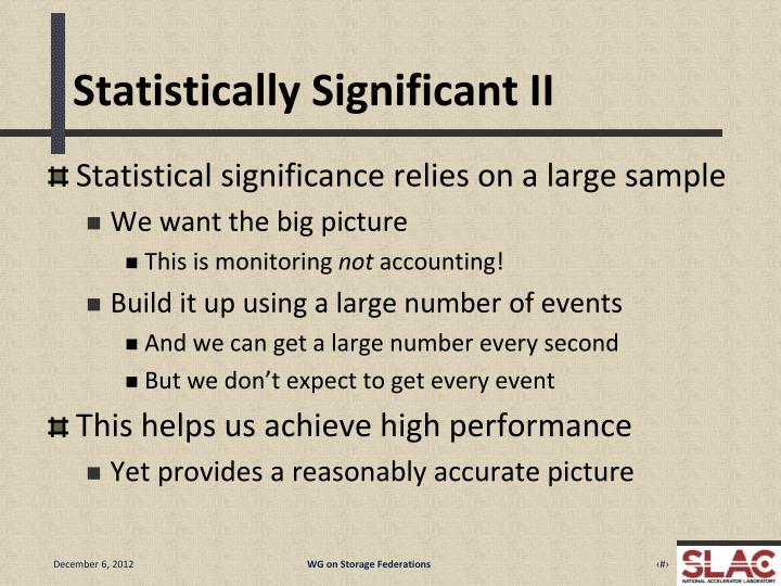 Statistically Significant II