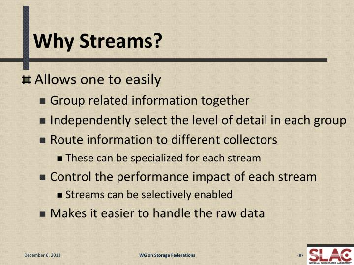 Why Streams?