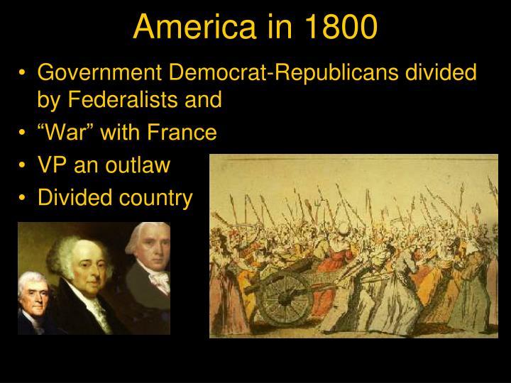 America in 1800