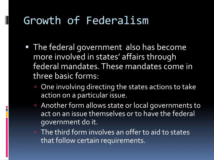 Growth of Federalism