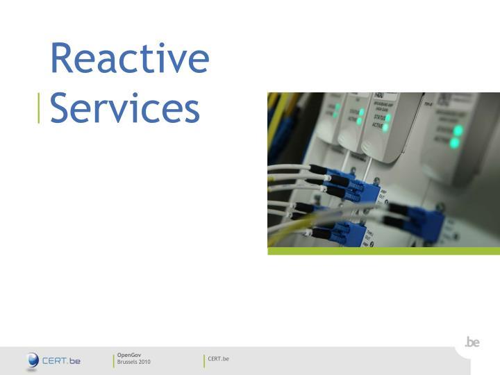 Reactive Services