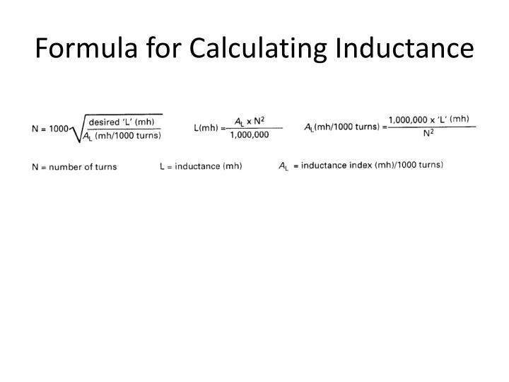 Formula for Calculating Inductance