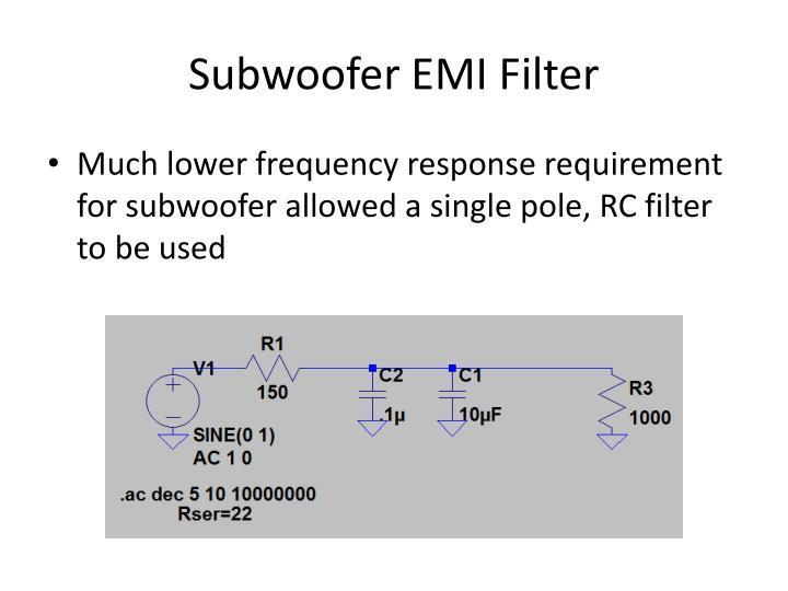 Subwoofer EMI Filter