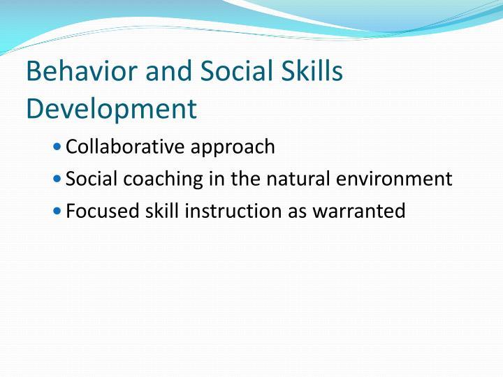 Behavior and Social Skills Development