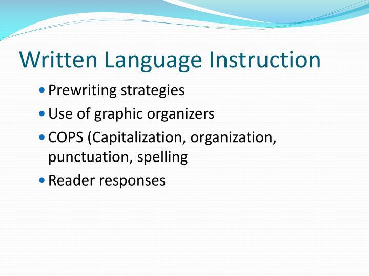 Written Language Instruction