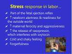 stress response in labor