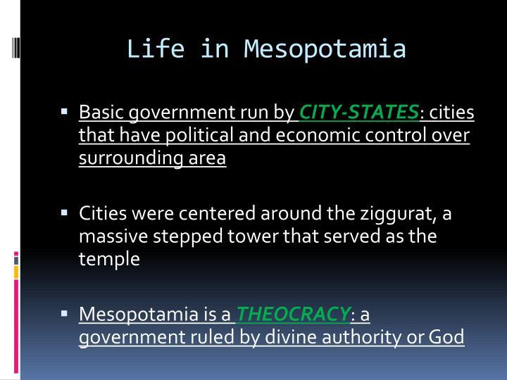 Life in Mesopotamia