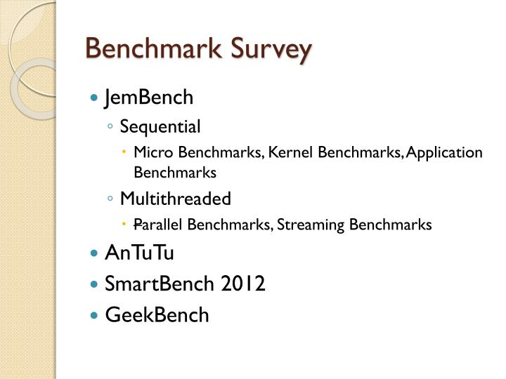 Benchmark Survey