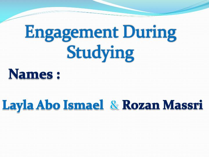 Engagement During Studying