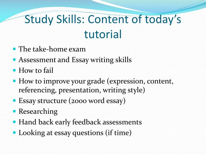 essay on writing skills