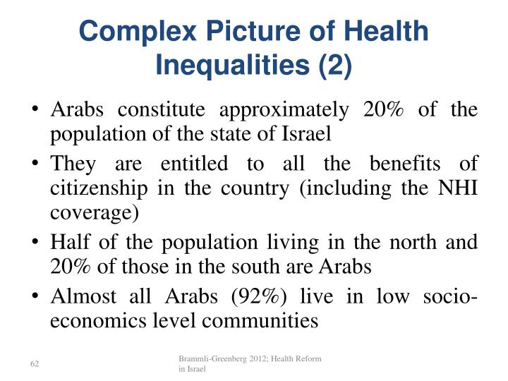 Complex Picture of Health Inequalities (2)