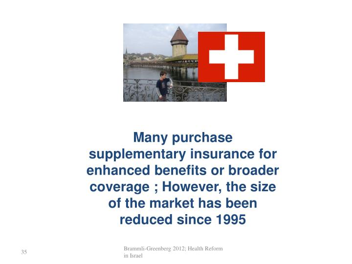 Many purchase supplementary insurance for enhanced