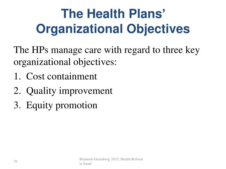 The Health Plans'