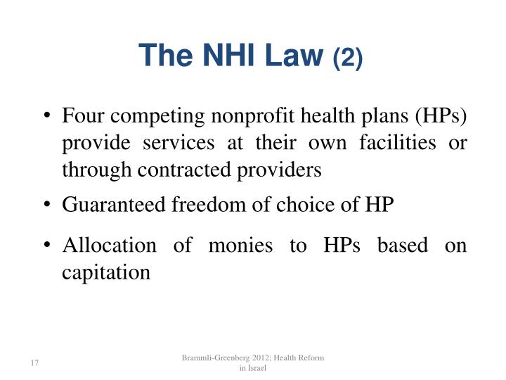 The NHI Law