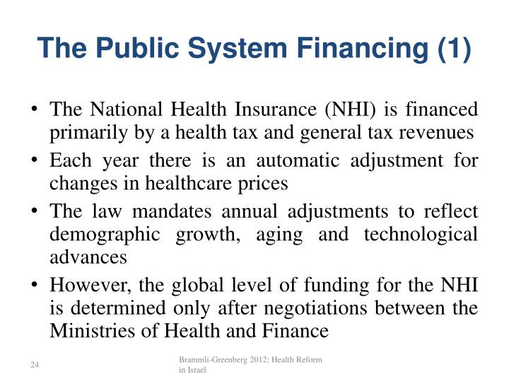 The Public System Financing (1)