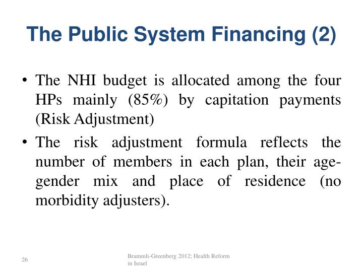 The Public System Financing (2)