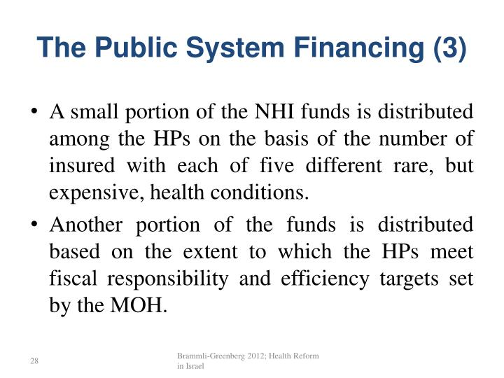 The Public System Financing (3)