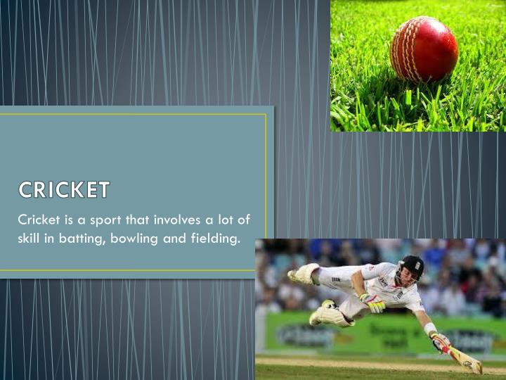 ppt - cricket powerpoint presentation