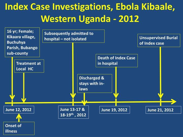 Index Case Investigations, Ebola