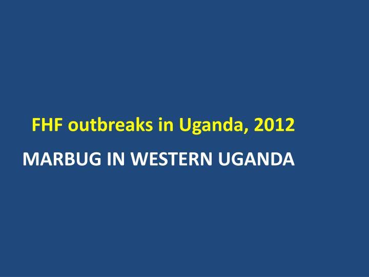 FHF outbreaks in Uganda, 2012