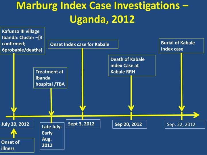 Marburg Index Case Investigations – Uganda, 2012