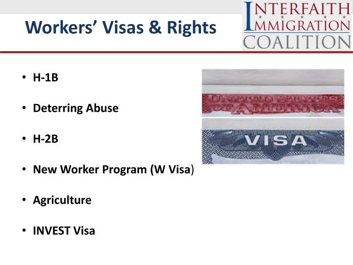 Workers' Visas & Rights