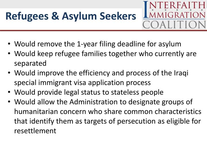 Refugees & Asylum Seekers