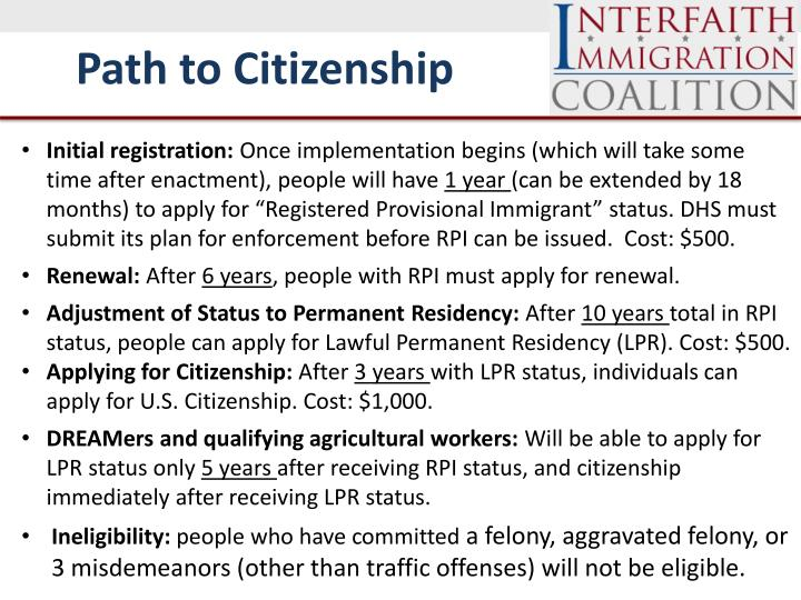 Path to Citizenship