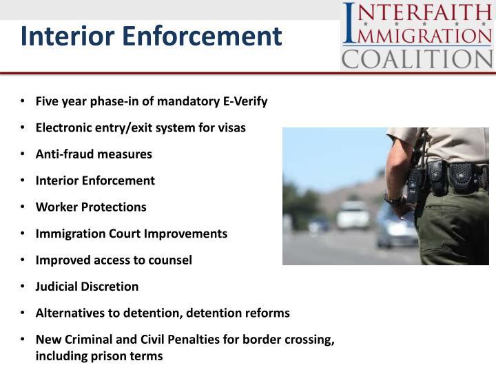 Interior Enforcement