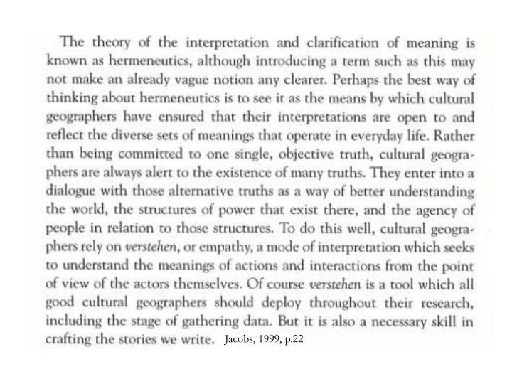 Jacobs, 1999, p.22