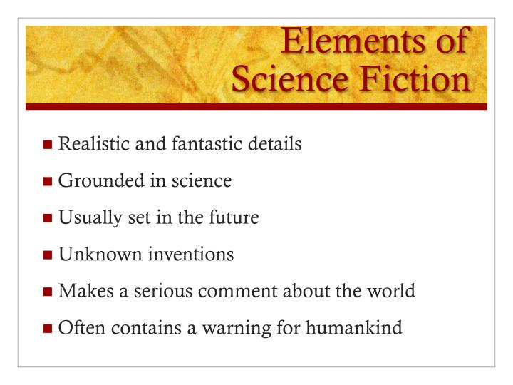 Elements of science fiction1