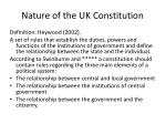 nature of the uk constitution