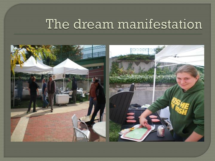 The dream manifestation