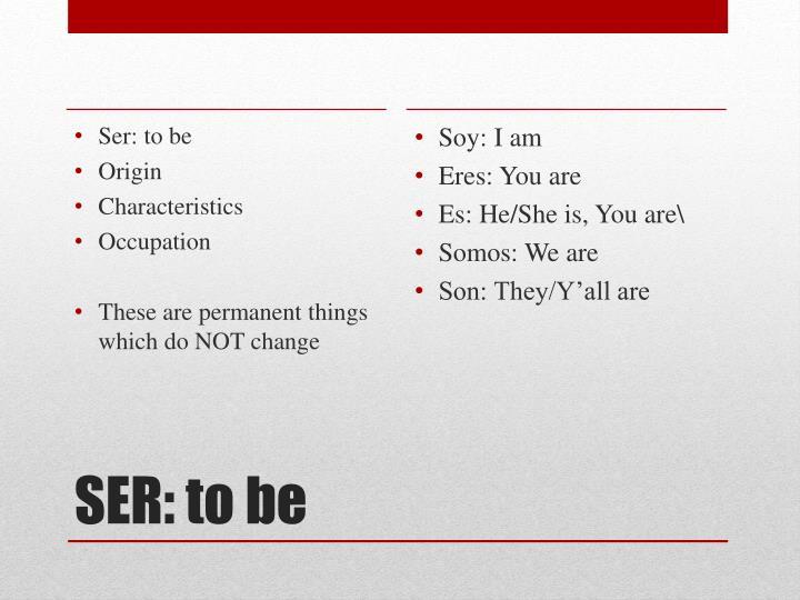 Soy: I am