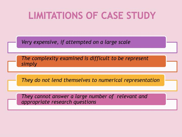 LIMITATIONS OF CASE STUDY