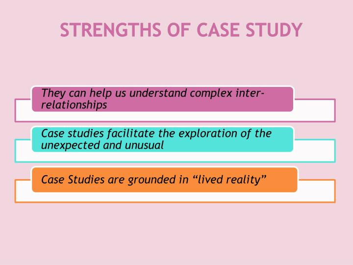 STRENGTHS OF CASE STUDY