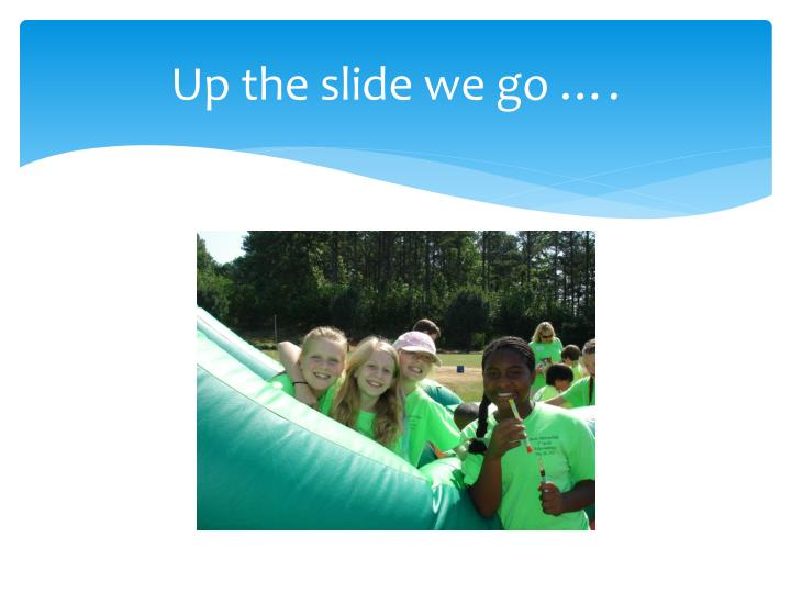 Up the slide we go ….