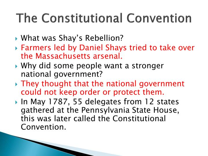 constitutional convention of 1787 essay