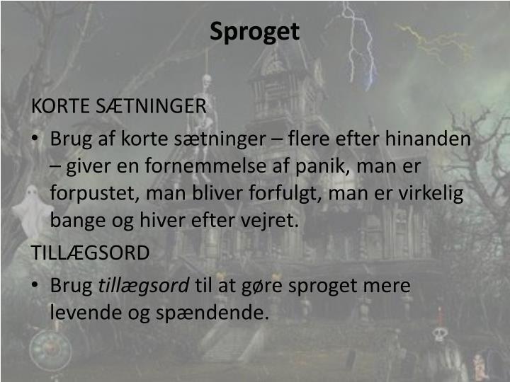 Sproget