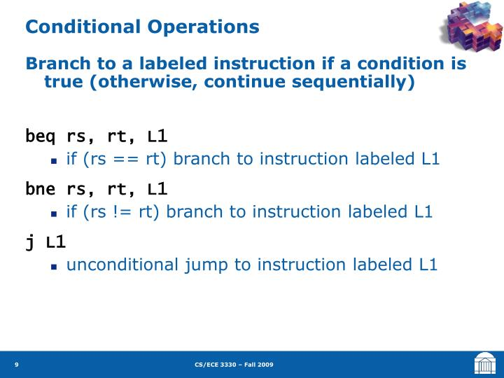 Conditional Operations