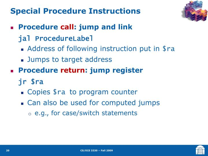 Special Procedure Instructions