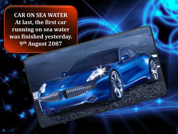 CAR ON SEA WATER