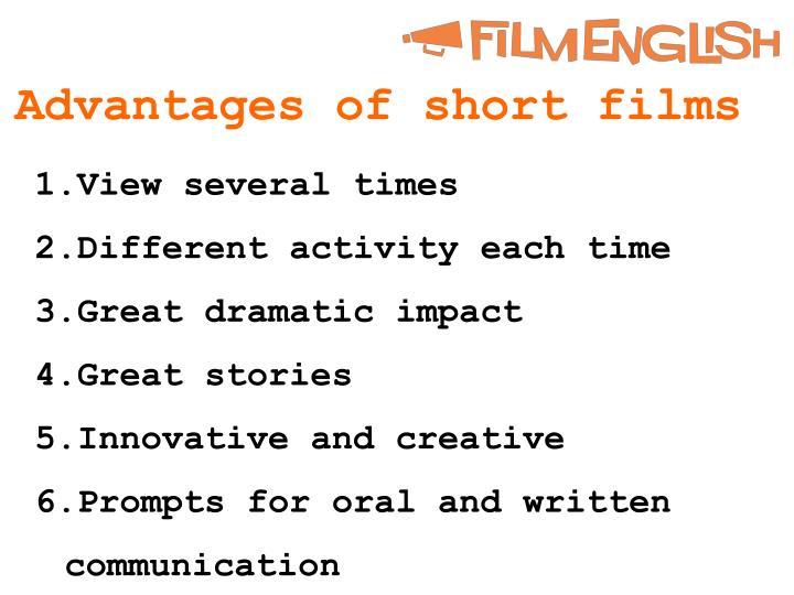 Advantages of short films